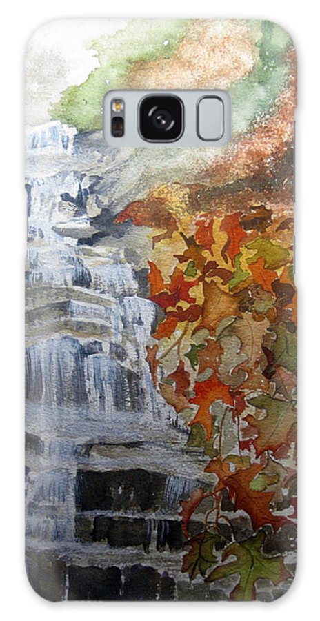 Water Fall Galaxy S8 Case featuring the painting Fall Leaves by Julia RIETZ