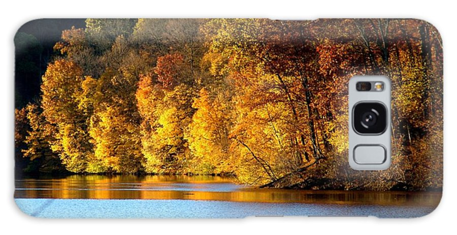 Trees Galaxy S8 Case featuring the photograph Fall Reflections Of Indiana by Carol Milisen