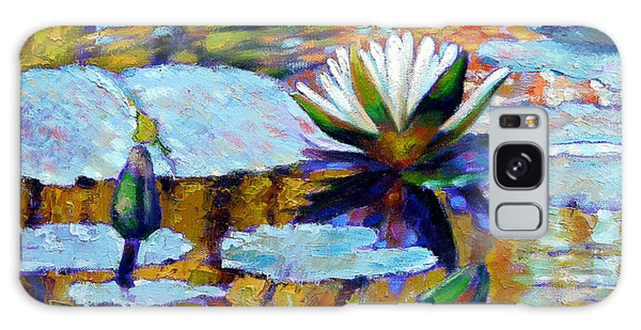 Fall Galaxy Case featuring the painting Fall Ripples by John Lautermilch