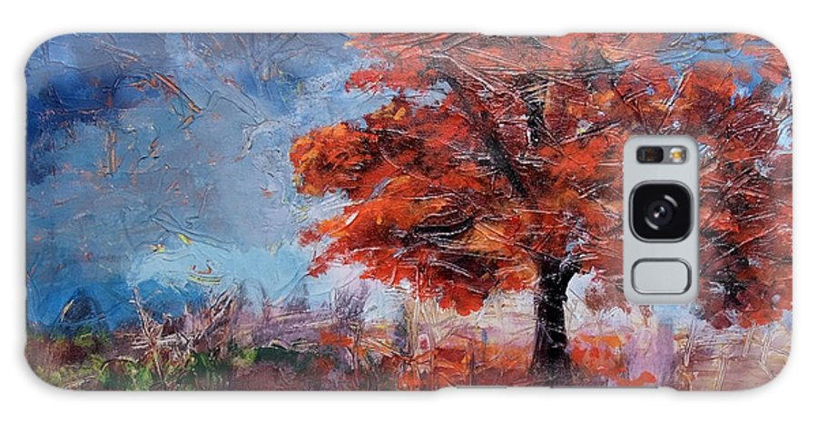 Fall Galaxy S8 Case featuring the painting Fall Tree by Jamie Hartley