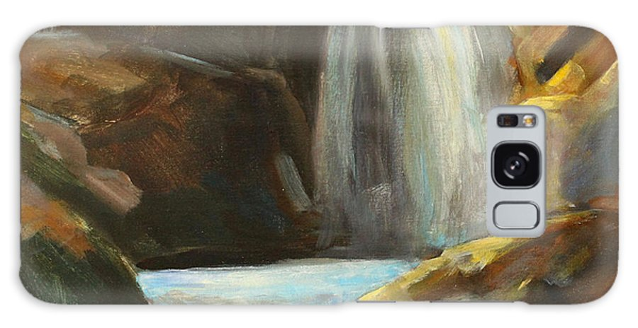 Waterfall Painting Galaxy S8 Case featuring the painting Falling Water by Nancy Merkle