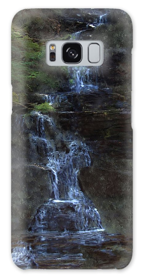 Galaxy Case featuring the photograph Falls At 6 Mile Creek Ithaca N.y. by David Lane