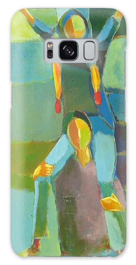 Abstract Galaxy Case featuring the painting Family Joy by Habib Ayat