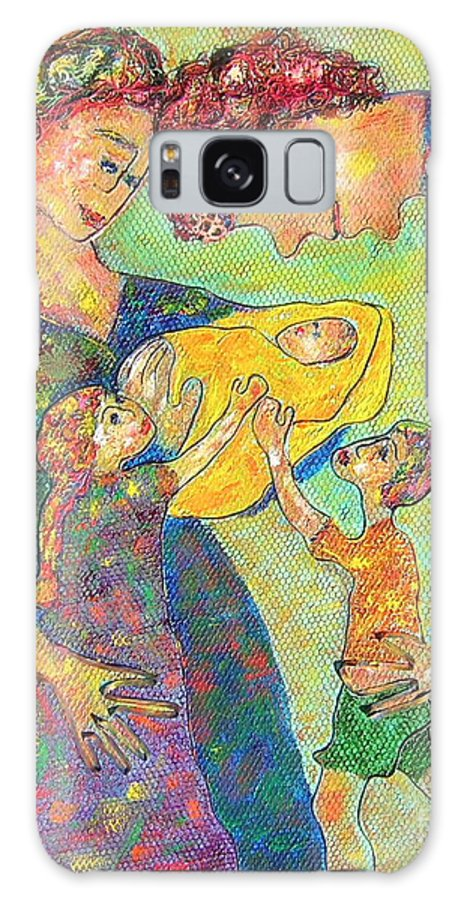 Family Enjoying Each Other Galaxy S8 Case featuring the painting Family Matters by Naomi Gerrard
