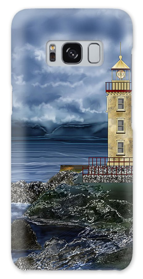 Lighthouse Galaxy S8 Case featuring the painting Fanad Head Lighthouse Ireland by Anne Norskog