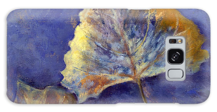 Leaves Galaxy Case featuring the painting Fanciful Leaves by Chris Neil Smith