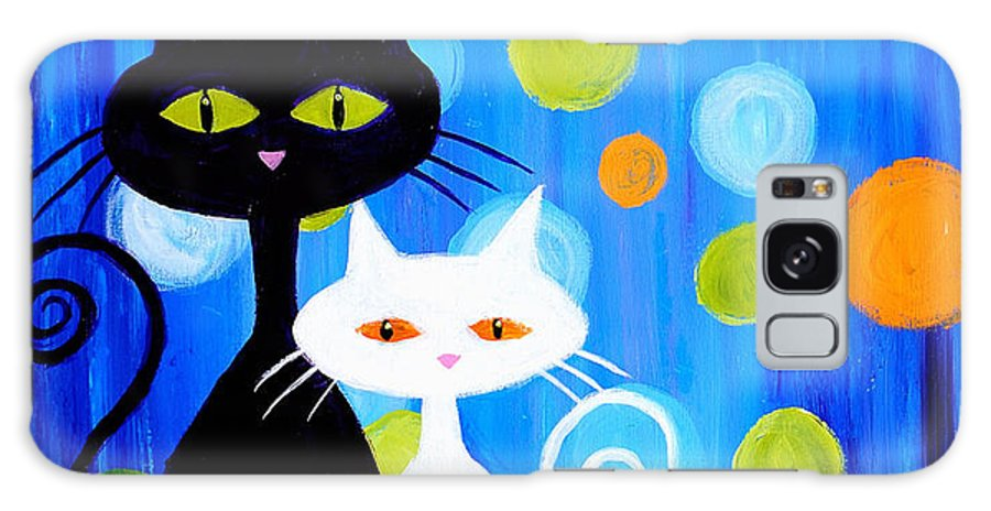 Cats Galaxy S8 Case featuring the painting Fancy Cats by Art by Danielle