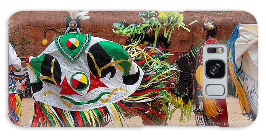 Fancy Shawl Dancer Galaxy S8 Case featuring the photograph Fancy Shawl Dancer At Star Feather Pow-wow by Tim McCarthy