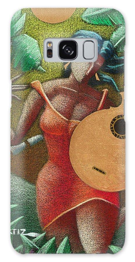 Puerto Rico Galaxy Case featuring the painting Fantasia Boricua by Oscar Ortiz