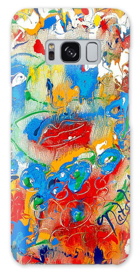 Woman Galaxy S8 Case featuring the painting Fantasia by Natalie Holland