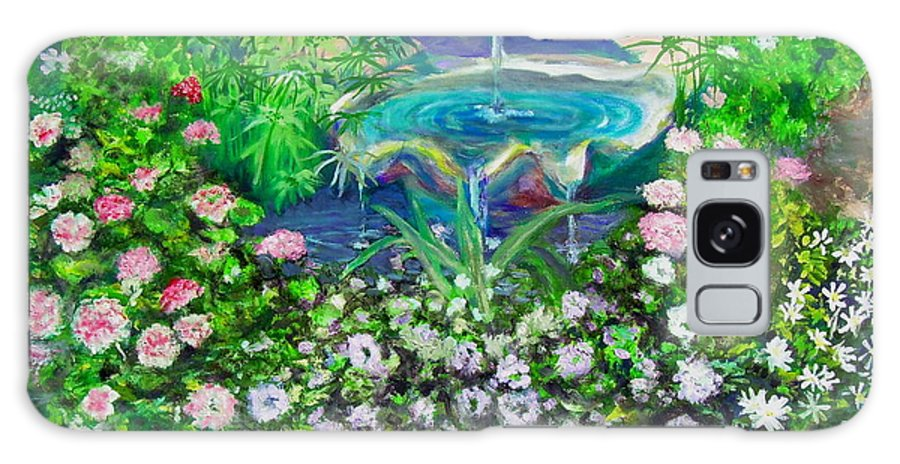 Fountain Galaxy Case featuring the painting Fantasy Fountain by Michael Durst