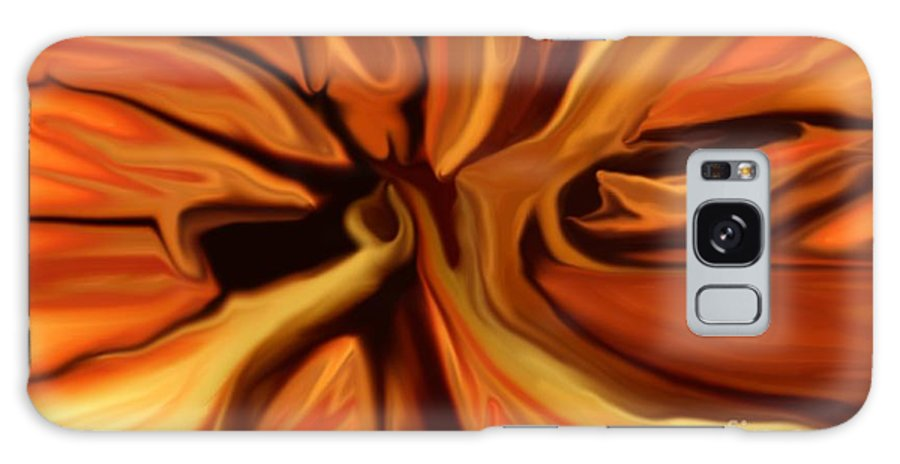 Abstract Galaxy S8 Case featuring the digital art Fantasy In Orange by David Lane