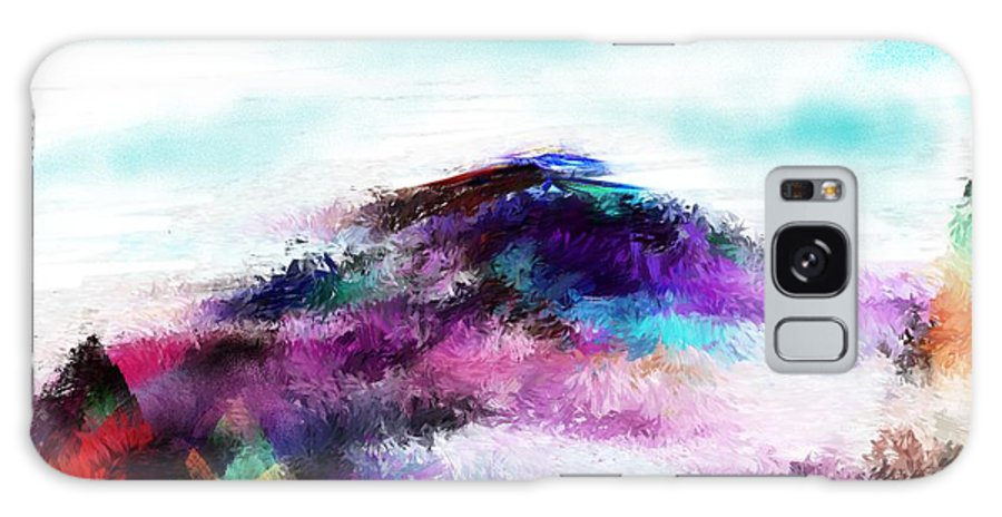 Digital Painting Galaxy S8 Case featuring the digital art Fantasy Mountain by David Lane