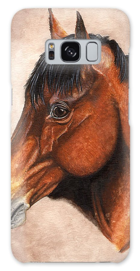 Horse Galaxy S8 Case featuring the painting Farley by Kristen Wesch