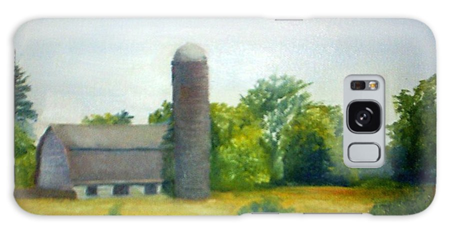 Farm Galaxy S8 Case featuring the painting Farm In The Pine Barrens by Sheila Mashaw