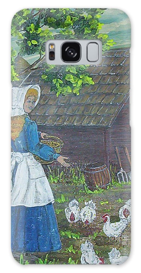 Barn Galaxy S8 Case featuring the painting Farm Work I by Phyllis Mae Richardson Fisher