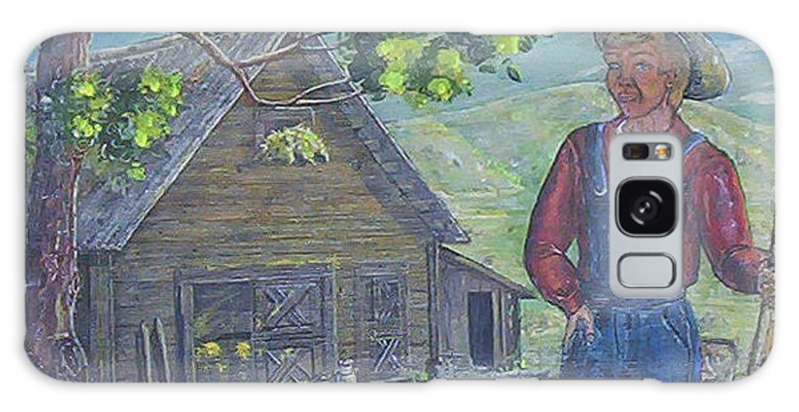 Barn Galaxy S8 Case featuring the painting Farm Work II by Phyllis Mae Richardson Fisher