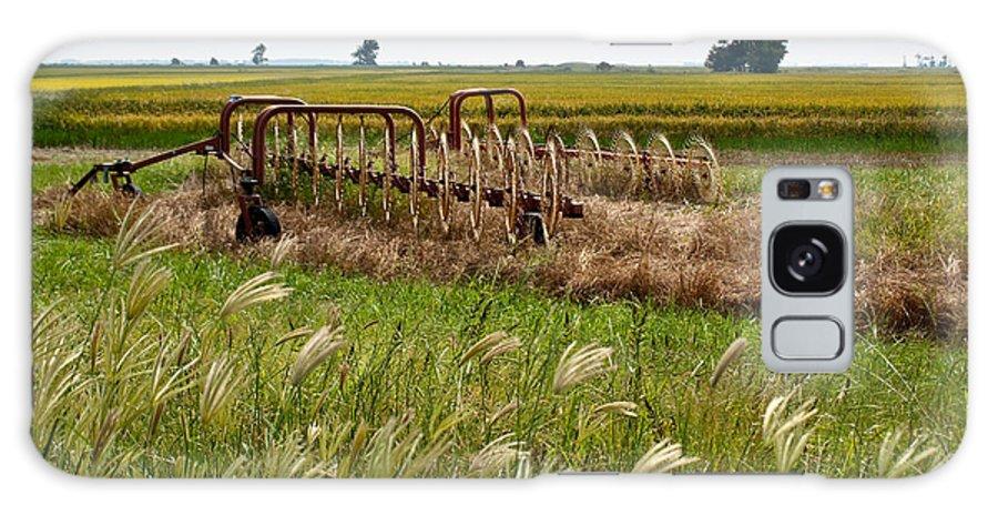 Farm Galaxy S8 Case featuring the photograph Farm Work Wiind And Rain by Douglas Barnett