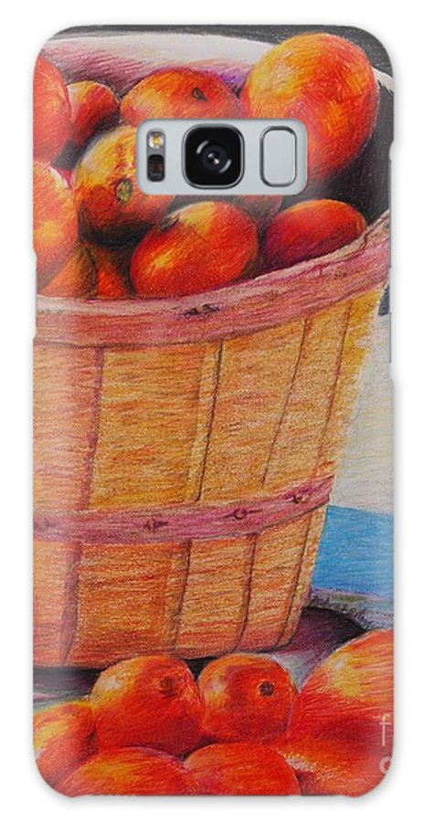 Produce In A Basket Galaxy S8 Case featuring the drawing Farmers Market Produce by Nadine Rippelmeyer