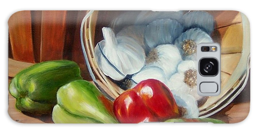 Peppers Galaxy Case featuring the painting Farmers Market by Susan Dehlinger