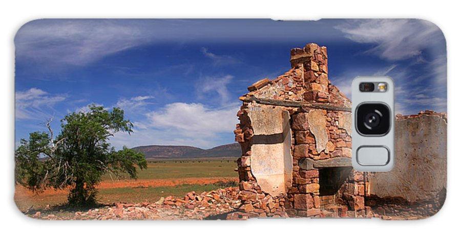 Cottage Galaxy S8 Case featuring the photograph Farmhouse Cottage Ruin Flinders Ranges South Australia by Ralph A Ledergerber-Photography