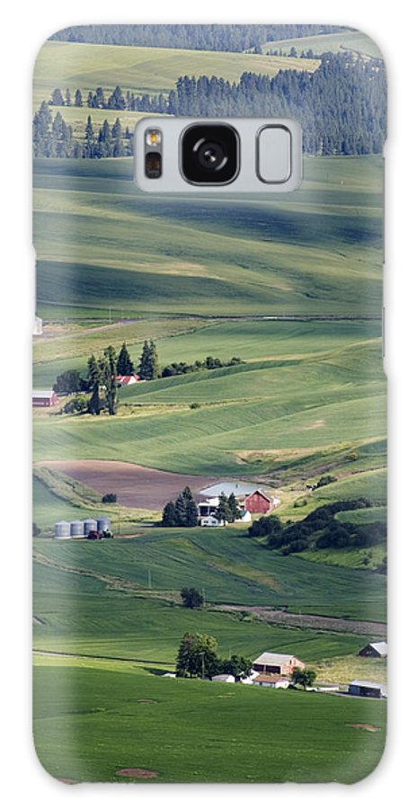 Fertile Galaxy Case featuring the photograph Farmland In Eastern Washington State by Carl Purcell