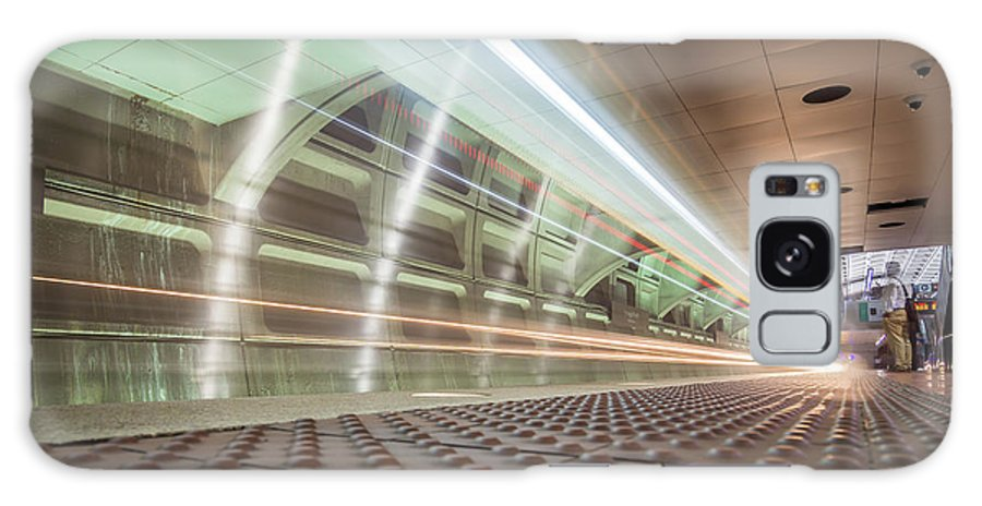 New Galaxy S8 Case featuring the photograph Fast Moving Long Exposure Of Subway Train Underground Tunnel by Alex Grichenko