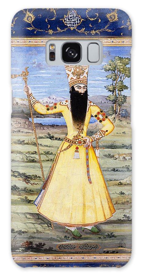 17.5-30-2003-portraet-af-fath-ali-shah-qajar Galaxy S8 Case featuring the painting Fath-ali-shah-qajar by Eastern Accents