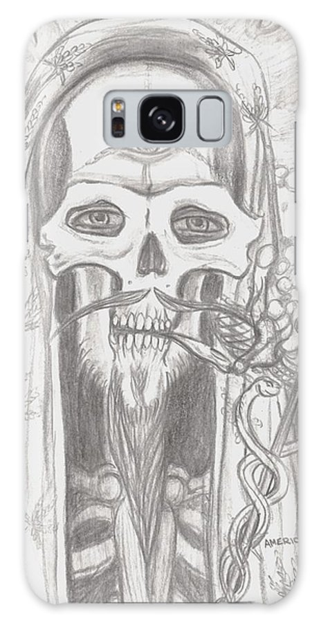Skeleton.eyes Galaxy S8 Case featuring the drawing Father Health And Wisdom by Americo Salazar