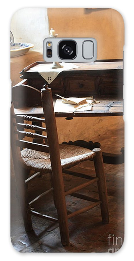 Carmel Mission Galaxy S8 Case featuring the photograph Father Serra's Desk by Carol Groenen