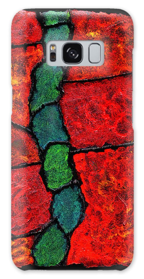 Abstract Galaxy Case featuring the painting Faux Tile Painting One by Wayne Potrafka