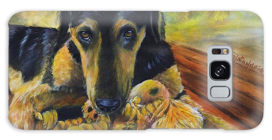 Dog Galaxy Case featuring the painting Favorite Things by Nik Helbig