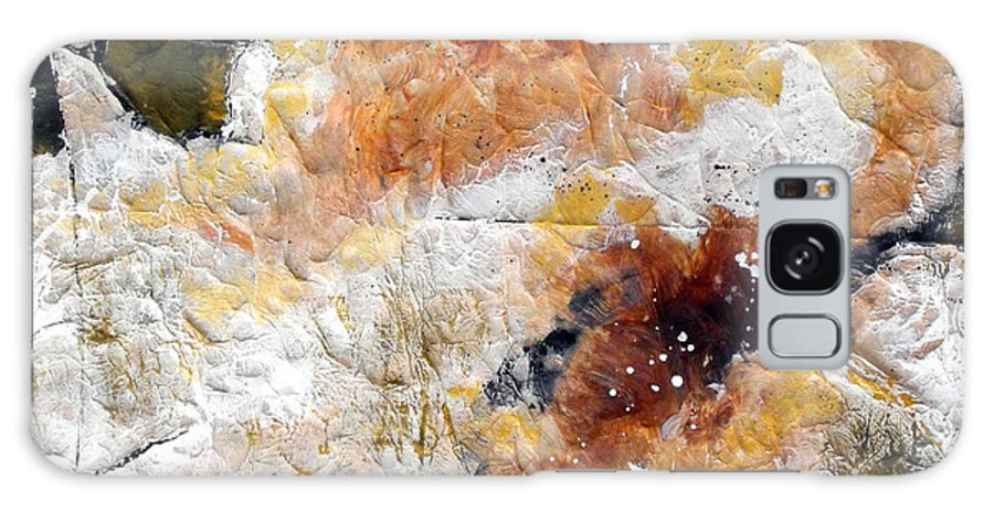 Abstract Galaxy Case featuring the painting Fear Of The Unknown Close-up by Ruth Palmer