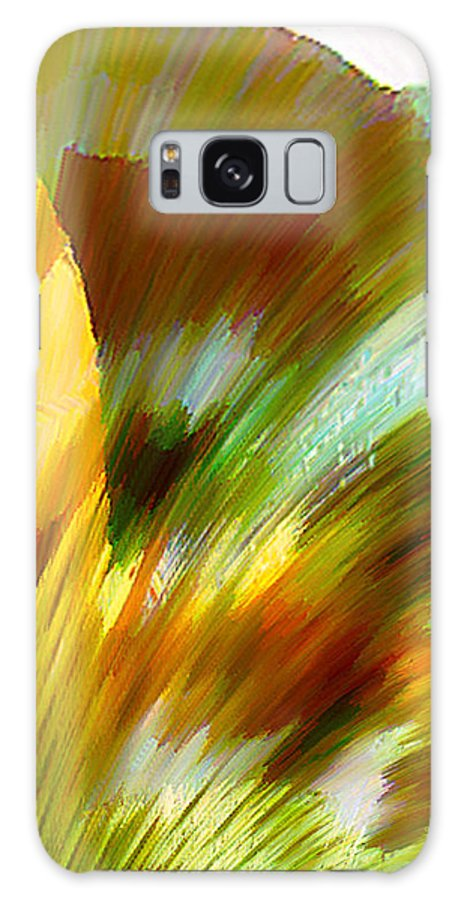 Landscape Digital Art Watercolor Water Color Mixed Media Galaxy Case featuring the digital art Feather by Anil Nene