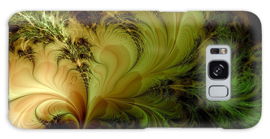 Feather Galaxy Case featuring the digital art Feathery Fantasy by Casey Kotas