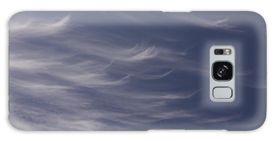 Sky Blue Clouds White Feather Photography Photograph Galaxy S8 Case featuring the photograph Feathery Sky by Shari Jardina
