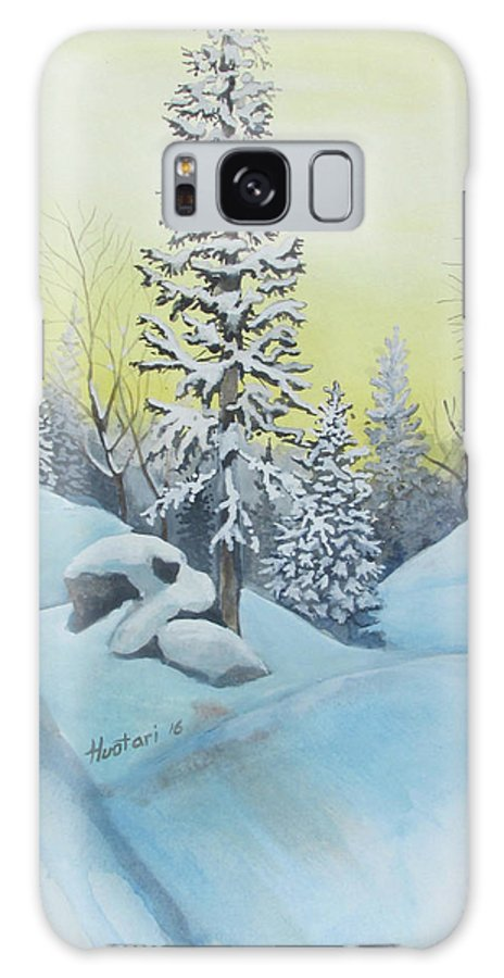 Winter Galaxy Case featuring the painting February Morning by Rick Huotari