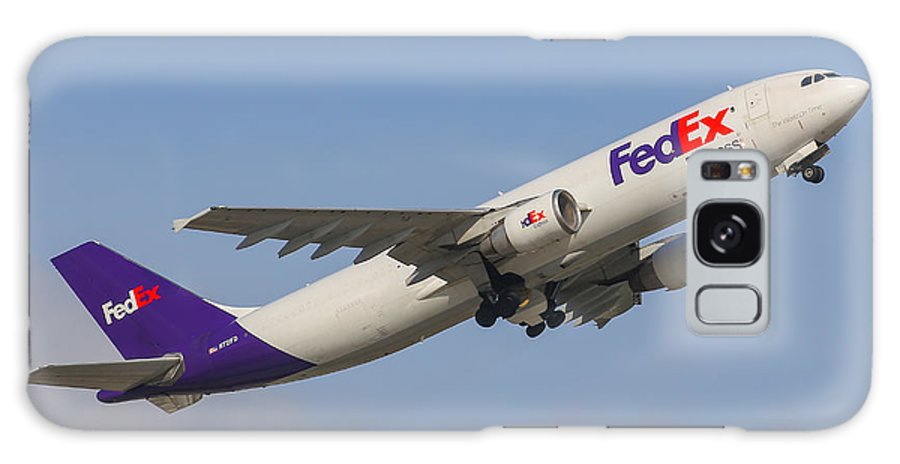 Aviation Galaxy S8 Case featuring the photograph Fedex Airplane by Dart and Suze Humeston