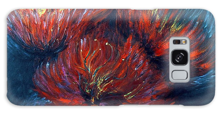 Abstract Galaxy S8 Case featuring the painting Fellowship by Nadine Rippelmeyer