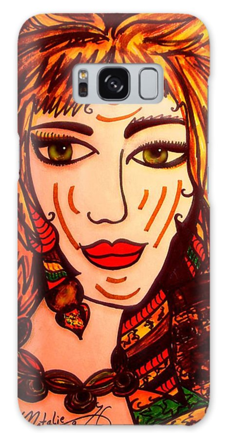 Woman Galaxy S8 Case featuring the painting Female Animal by Natalie Holland