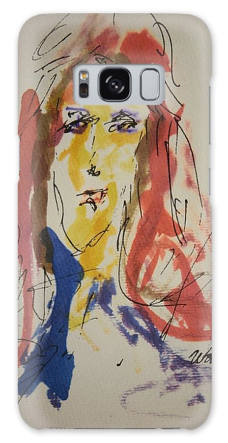 Portrait Galaxy S8 Case featuring the painting Female Face Study F by Edward Wolverton