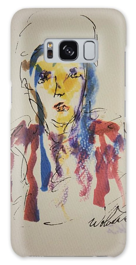 Portrait Galaxy S8 Case featuring the painting Female Face Study K by Edward Wolverton