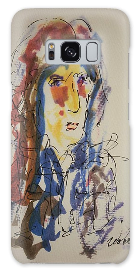 Portrait Galaxy S8 Case featuring the painting Female Face Study N by Edward Wolverton