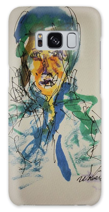 Portrait Galaxy S8 Case featuring the painting Female Face Study X by Edward Wolverton