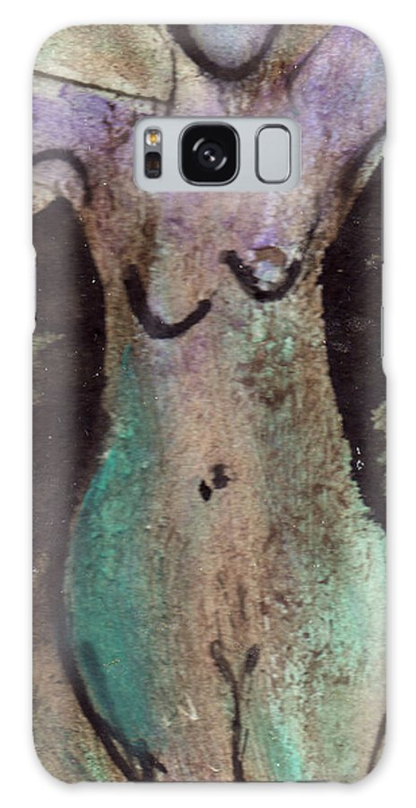 Nude Galaxy Case featuring the painting Female Nude Torso 1 by Wayne Potrafka