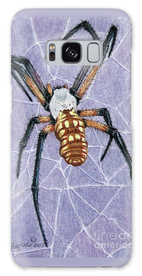 Fuqua - Artwork Galaxy S8 Case featuring the drawing Female Orb Spider by Beverly Fuqua