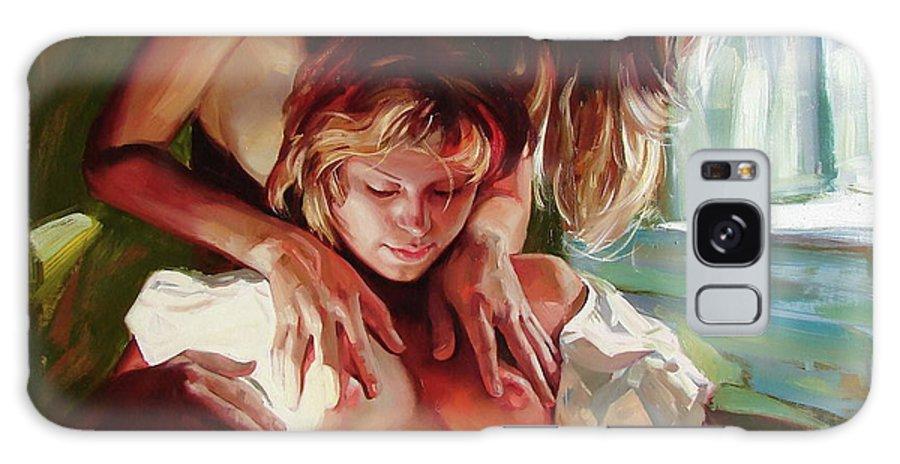 Ignatenko Galaxy Case featuring the painting Female secrets by Sergey Ignatenko