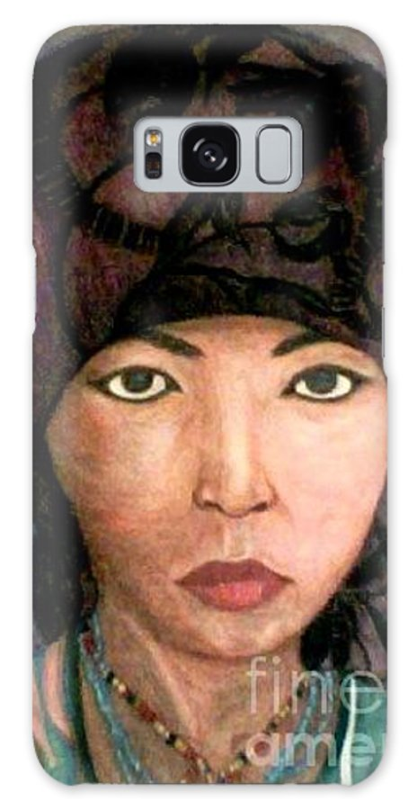 Portraits Galaxy Case featuring the drawing Female Villager by Brenda L Spencer