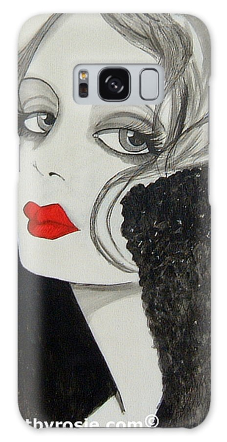 Cinema Galaxy S8 Case featuring the painting Femme Fatale by Rosie Harper