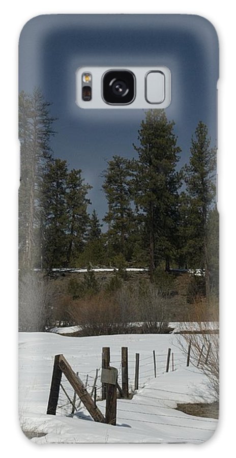 Fence Galaxy S8 Case featuring the photograph Fence In Snow by Sara Stevenson